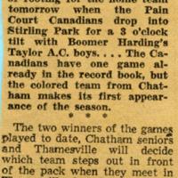 Baseball For Chatham