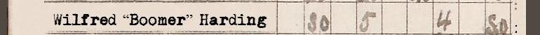 "Wilfred ""Boomer"" Harding"