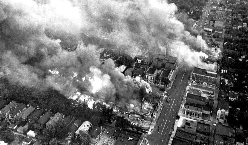 Detroit Riot aerial photo