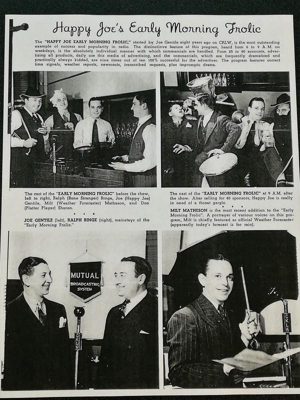 First Radio Program of CKLW AM800