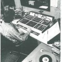 AM Sound control operator - close-up view