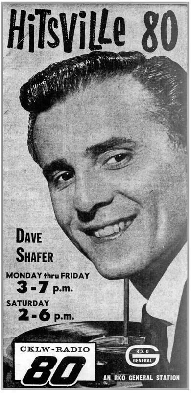 An Advertisement featuring Big 8 DJ, Dave Shafer